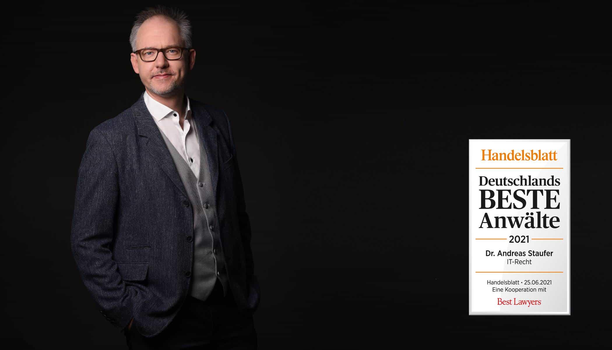 Dr. Andreas Staufer mit Auszeichnung Handelsblatt